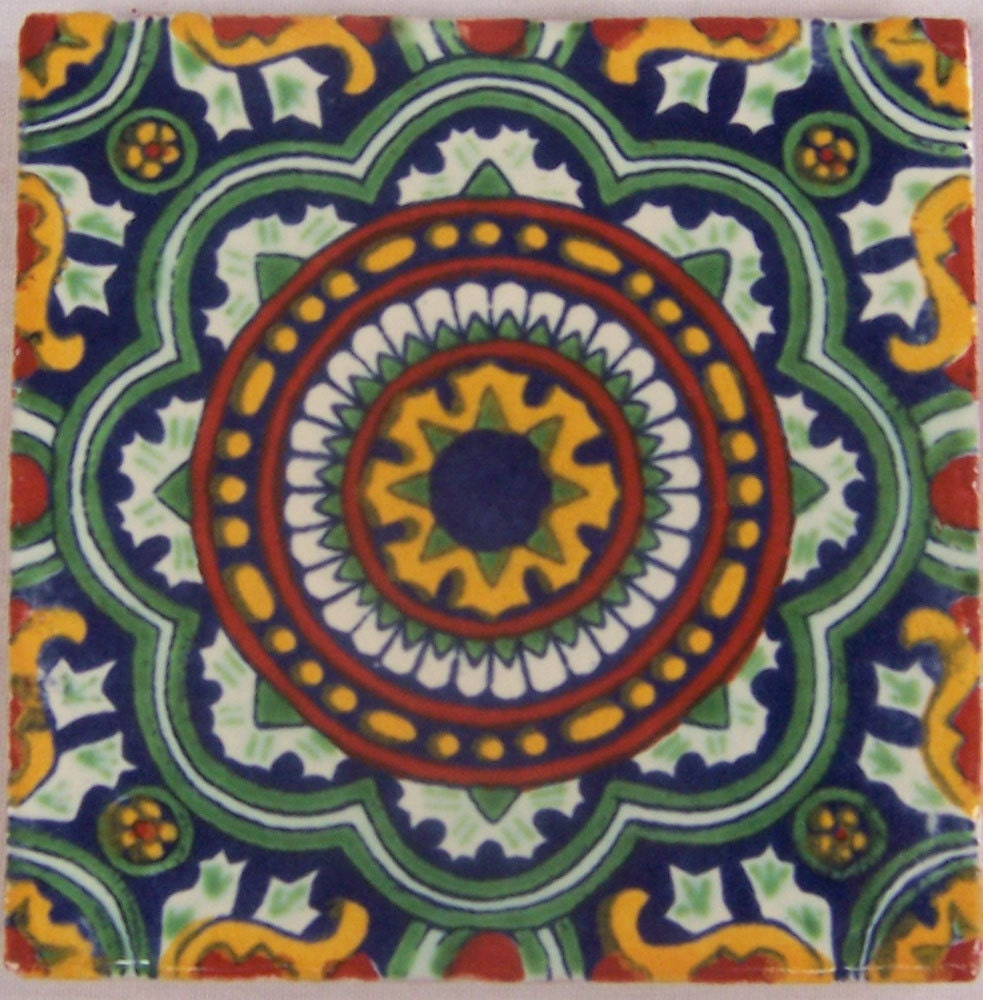 Mexican Tiles: 90 Mexican Hand Painted Talavera Tiles 4 X 4