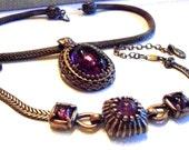 Vintage Edwardian Necklace, Earrings and Bracelet Set