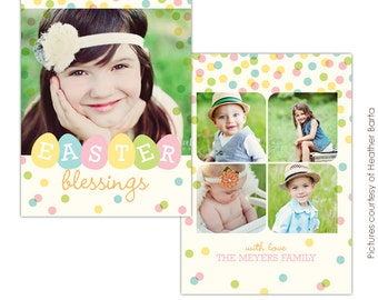 Easter Photocard - PSD Template for photographers- E730