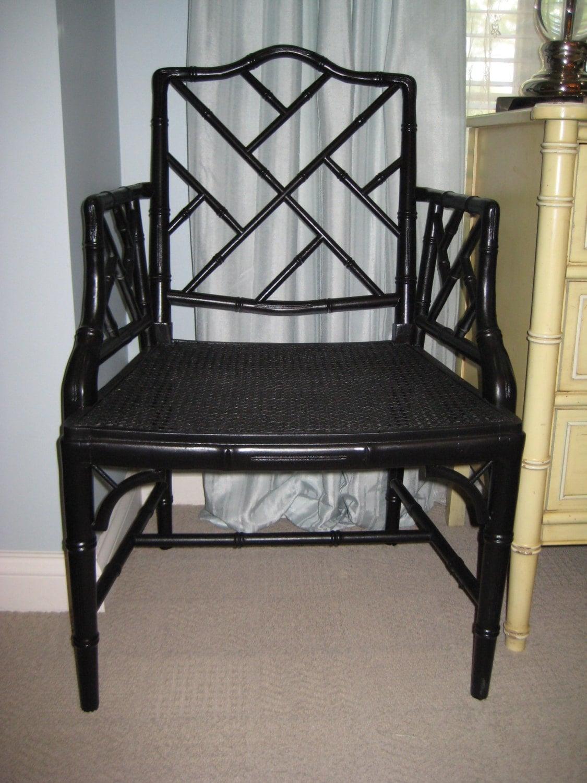 Juego de sillas de bamb del faux chippendale chino de dos - Sillas de bambu ...
