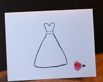 Simple Bride Card