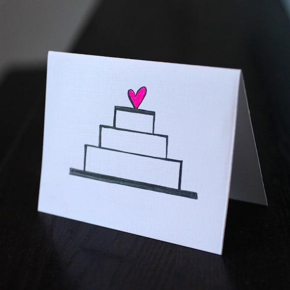 Simple Wedding Cake Card