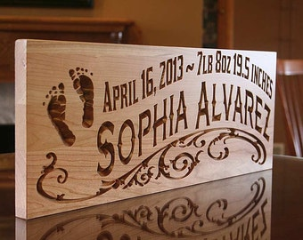 Popular items for custom baby sign on Etsy