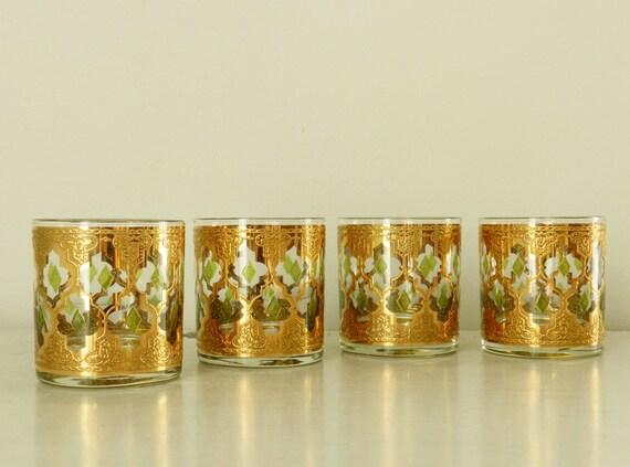 Vintage culver cocktail glasses valencia barware whiskey - Vintage valencia ...