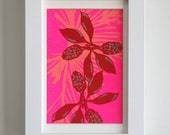 Popping Buds Framed Silk Screened Print - DeweyHoward