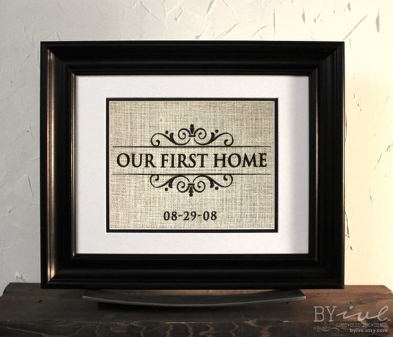 burlap sign wall decor our first home perfect gift
