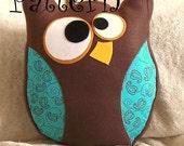 Felt Owl Pattern PDF -Hooter the Owl  Plush Pillow PDF Tutorial How to DIY epattern Halloween