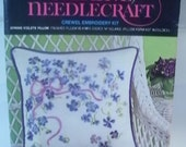Vintage 1974 Avon Creative Needlecraft Crewel Embroidery Kit Spring Violets Pillow