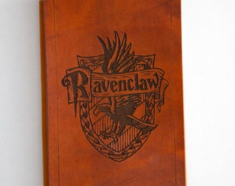 Leather Ravenclaw crest notepad cover.