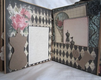 "Smash Book 6.5"" x 8"" , Junk Journal, Premade Photo Album by Island Lilly Designs"