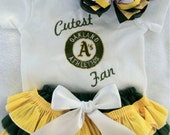 Cutest Oakland A's  inspired outfit