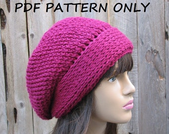 CROCHET PATTERN - Slouchy  Hat, Crochet Pattern PDF,Easy, Pattern No. 47