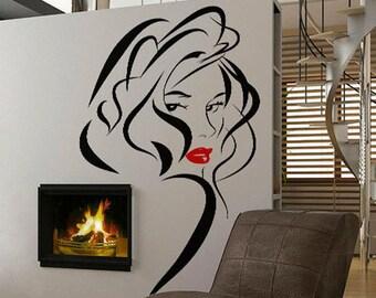 Modern Woman 7 - uBer Decals Wall Decal Vinyl Decor Art Sticker Removable Mural Modern A358