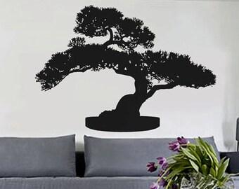 Bonsai Tree - uBer Decals Wall Decal Vinyl Decor Art Sticker Removable Mural Modern A360