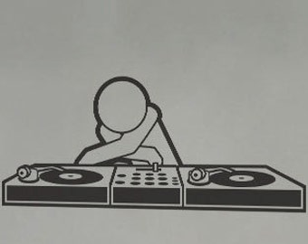 DJ Music - uBer Decals Wall Decal Vinyl Decor Art Sticker Removable Mural Modern A809