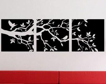 Modern Nature Art Branch - uBer Decals Wall Decal Vinyl Decor Art Sticker Removable Mural Modern A836