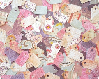 Rustic Jewelry Tags (120) Shabby Jewelry Tags-Hang Tags-Mini Tags-Small Tags-Price Tags-Blank Tags-Gift Tags-Bulk Tags-Boutique Tags