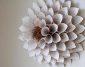 Giant Paper Flower Wall Sculpture for Nursery / Wedding / Home - Harry Potter Book