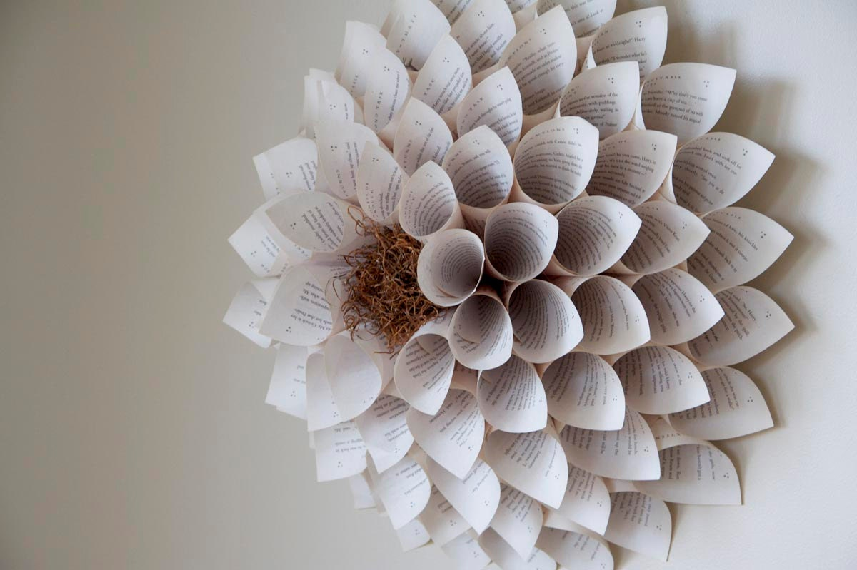 Easy Flower Paper Sculpture Giant paper flower wall sculpture for ...