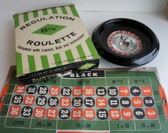 Vintage Toy Roulette Wheel for Casino Night