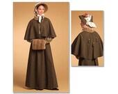 Victorian, Edwardian,  Jane Austen/Regency Style skirt, cape, Bonnet, muff  Pattern size 6=12: Butterick 5265