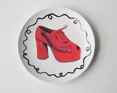Retro Snakeskin Shoe on Plate Art