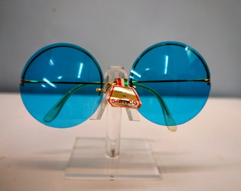 1960s Mod Large Round Colored Changeable Lens Sunglasses