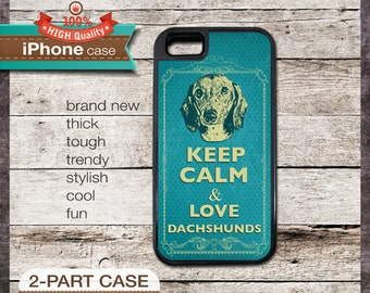 Keep Calm & Love Dachshunds - iPhone 6, 6+, 5 5S, 5C, 4 4S, Samsung Galaxy S3, S4