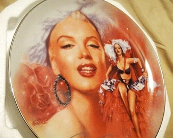 "Bradford Exchange Marilyn Monroe Porcelain Plate ""Shimmering Heat"" HOT"