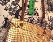 Large Purse metallic by Y & S Originals Shoulder Bag Crossbody Exterior Deep Pocket golden