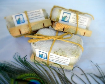 lavender flowers scented goat's milk bar soap