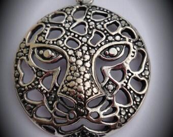 Genuine Sterling Silver Leopard Pendant