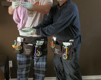 Daddy's Diaper Tool Belt - You fill - Embroidered/Personalized, Can also be used as a vendor apron, etc