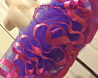 Satin Ribbon Edged Tutu - Full and Beautiful, Perfect for Pictures