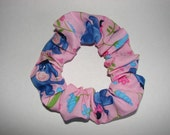 Eeyore Winnie the Pooh Pink Fabric Hair Scrunchie, women's accessories, gifts for her, pooh bear tigger, womans scrunchies, girls hair ties