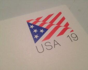 19 Cent Vintage '91 Stamped USA Postcards - Set of 5