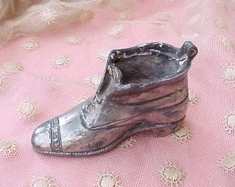 Darling Little Edwardian Era Pot Metal Shoe