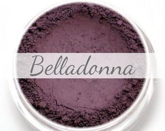"Eyeshadow Sample - ""Belladonna"" - matte dark eggplant/aubergine purple color (Vegan) Mineral Makeup Eye Color Pigment"