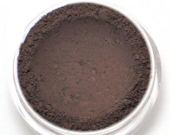 """Matte Blackened Plum Eyeshadow - """"Kingdom"""" - Plum Toned Brown Vegan Mineral Eyeshadow Net Wt 2g Mineral Makeup Eye Color Pigment"""