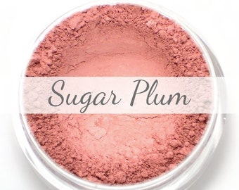 "Mineral Blush Sample - ""Sugar Plum"" (natural light plum pink) - Vegan"