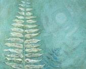 Tropical Fern, 24 x 24, Original Acrylic Painting