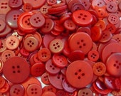"25 Mixed Red Sewing Buttons, multi sizes 1/8"" up to 1-1/2"", with gift wrap"