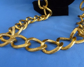 Large gold Link Chain Necklace