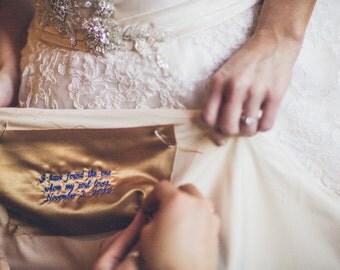 Wedding dress label wedding date something blue
