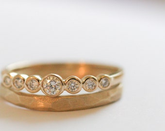 Bezel Set 7 Diamond Ring