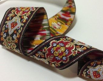 2 Yards of Persian/ Indian/ Renaissance/ Medieval Jacquard Ribbon Trim