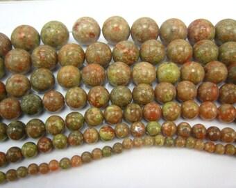 Autumn jasper round beads 4mm 15 inch strand