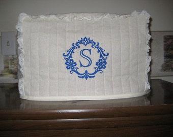 """2 slice toaster cover damask """"S"""" design"""