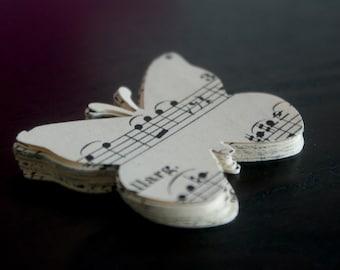 Music Sheet Butterfly Die Cut - 50 pieces