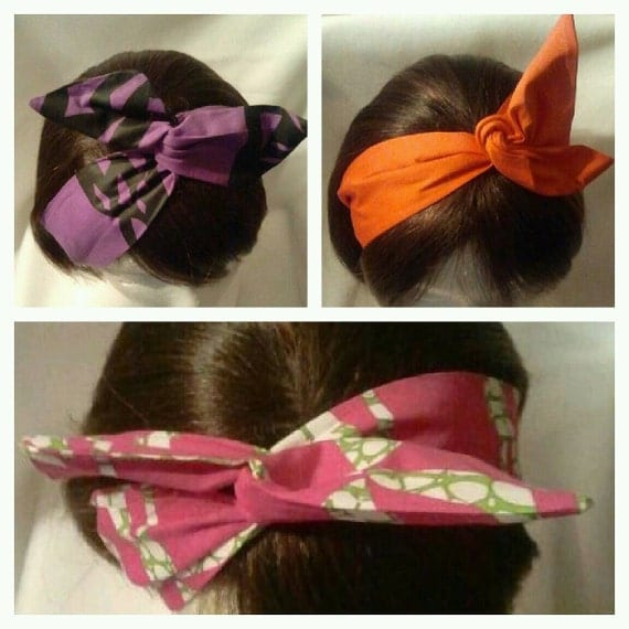 NWOT Handmade Korean Japanese Flexible Bunny Rabbit Bow Headband OSFM